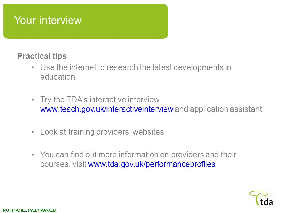 Your interview Practical tips