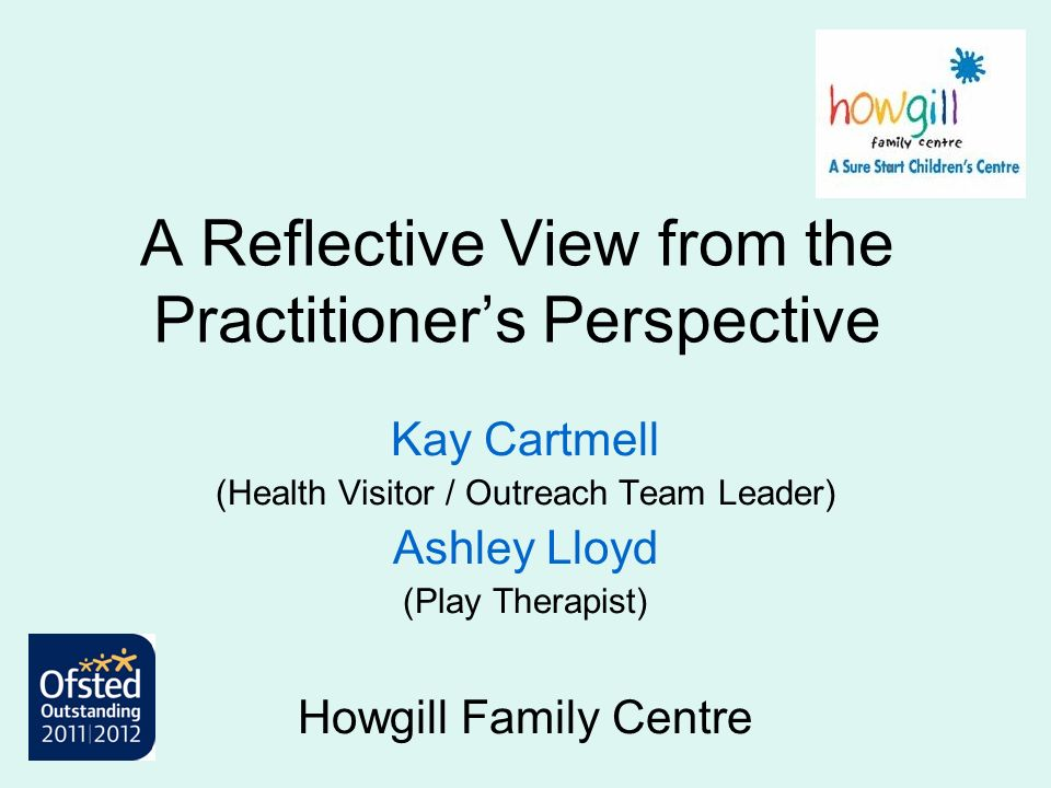A Reflective View from the Practitioner's Perspective