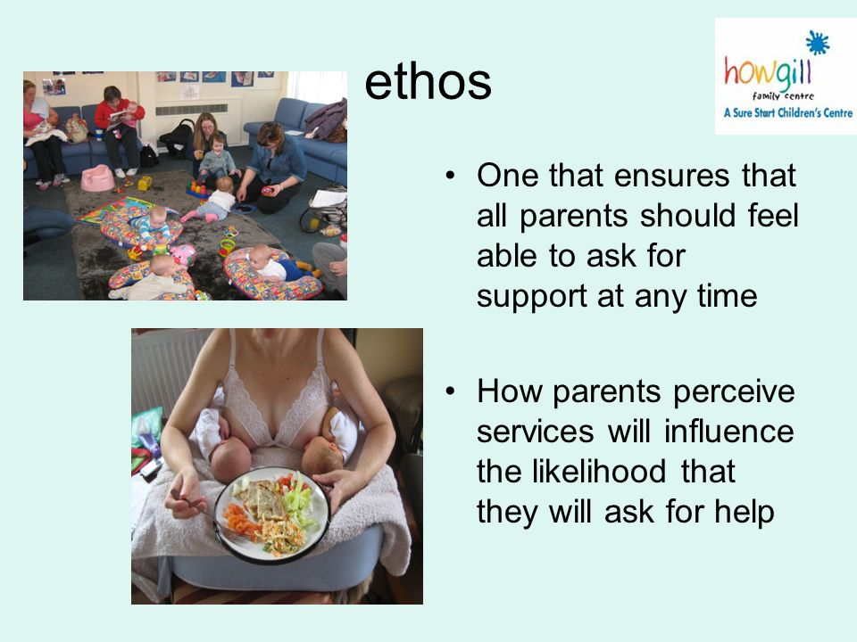 ethos One that ensures that all parents should feel able to ask for support at any time.