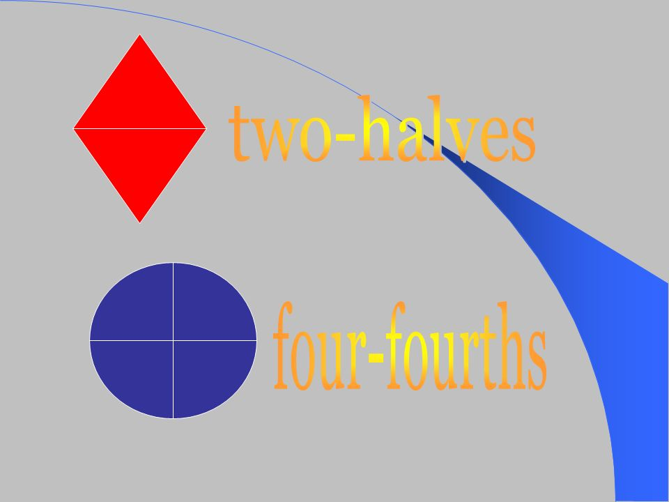 two-halves four-fourths