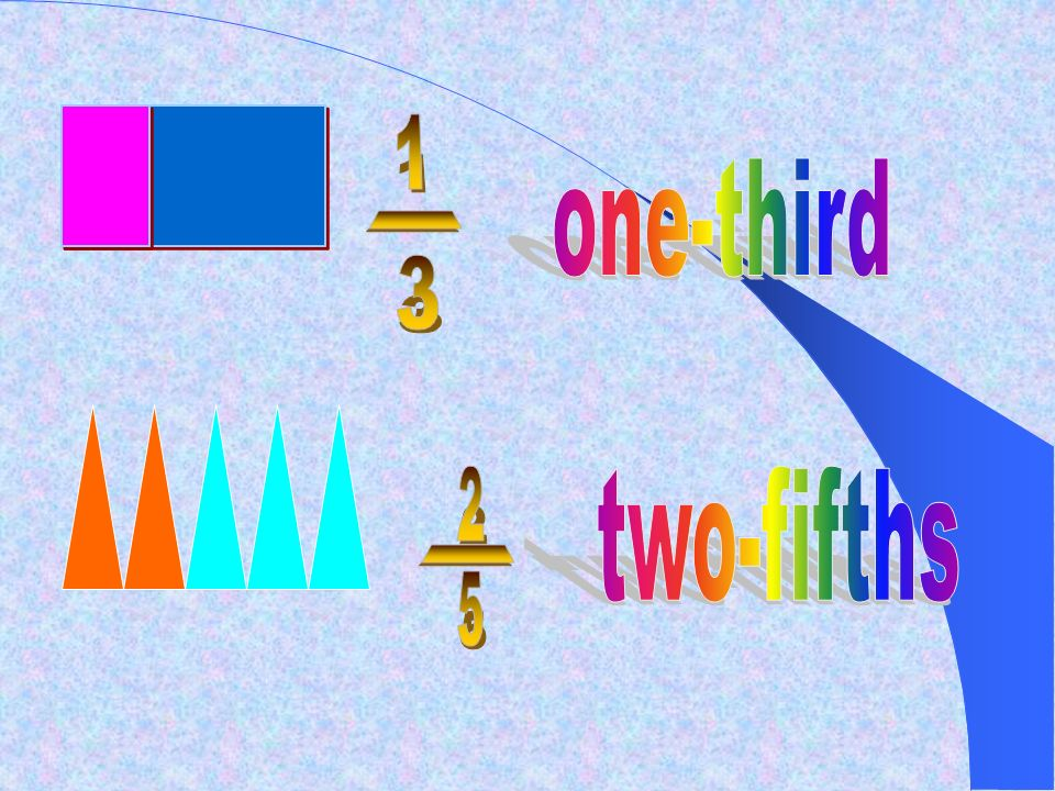 _ ___ 1 one-third - 3 2 two-fifths - 5