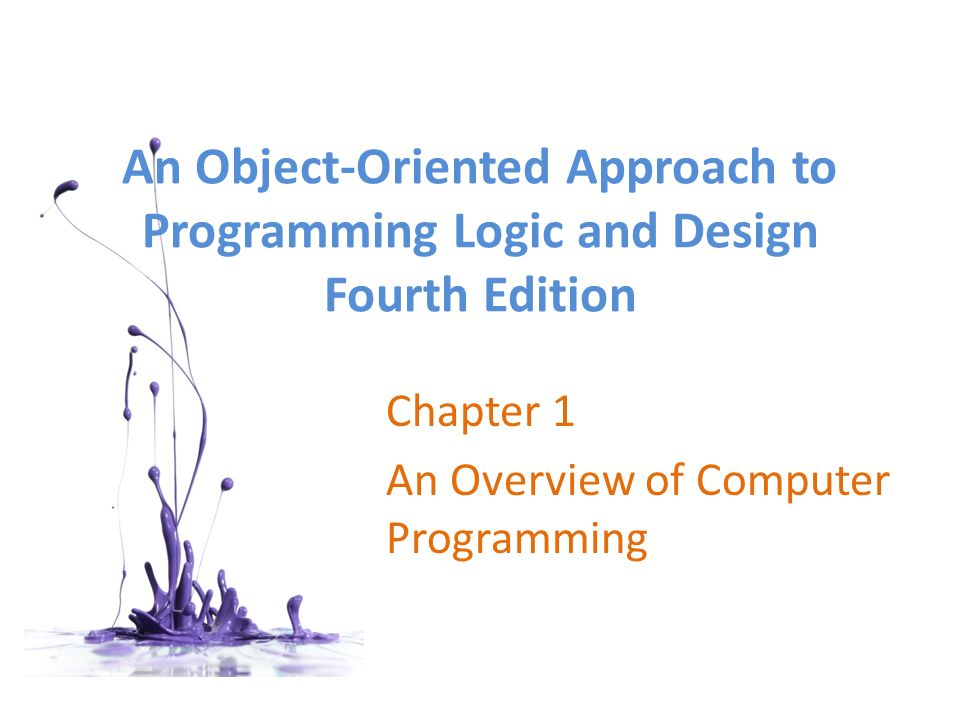 a paper on object orientated approach in computing and programming Object-oriented development will have on the future of computer graphics   just as a painter requires canvas or paper on which to draw so a programmer.