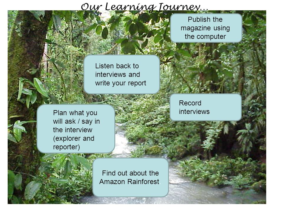 Our Learning Journey… Publish the magazine using the computer
