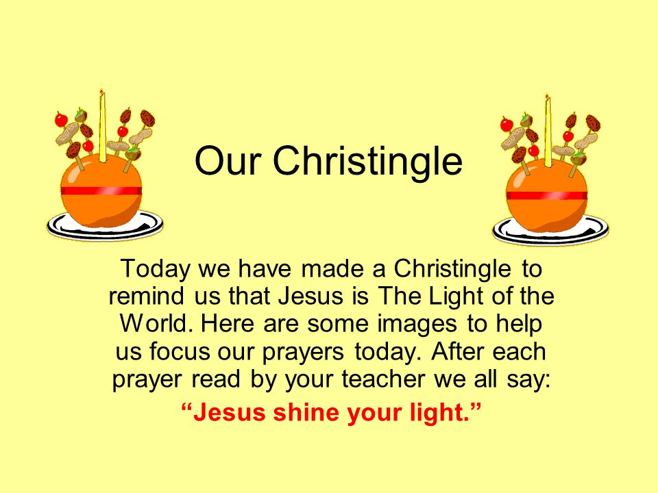 Jesus shine your light.