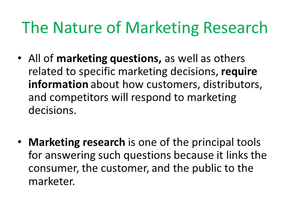 nature and rationale of marketing research Market research reports available from ibisworld covering every industry in australia.