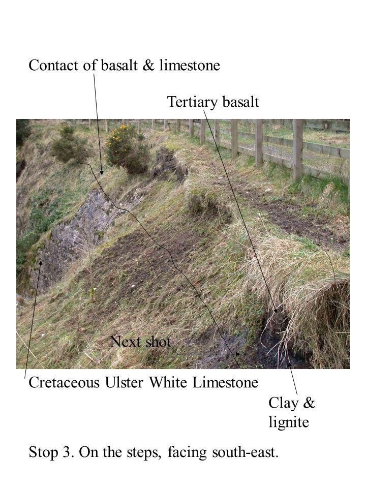 Contact of basalt & limestone