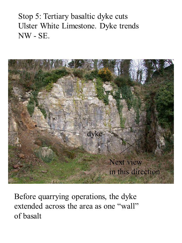 Stop 5: Tertiary basaltic dyke cuts