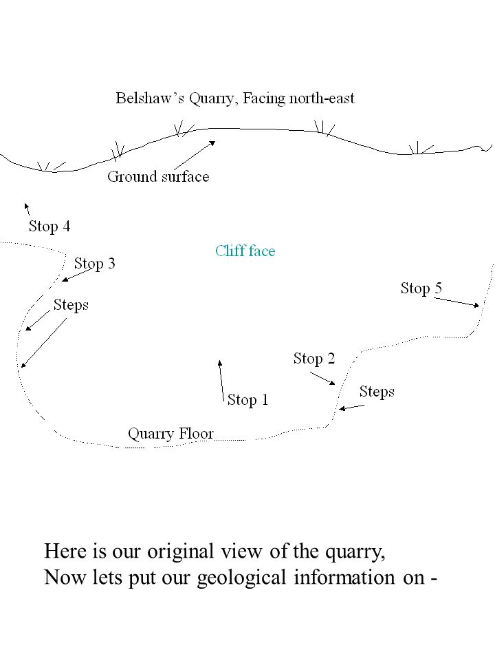 Here is our original view of the quarry,
