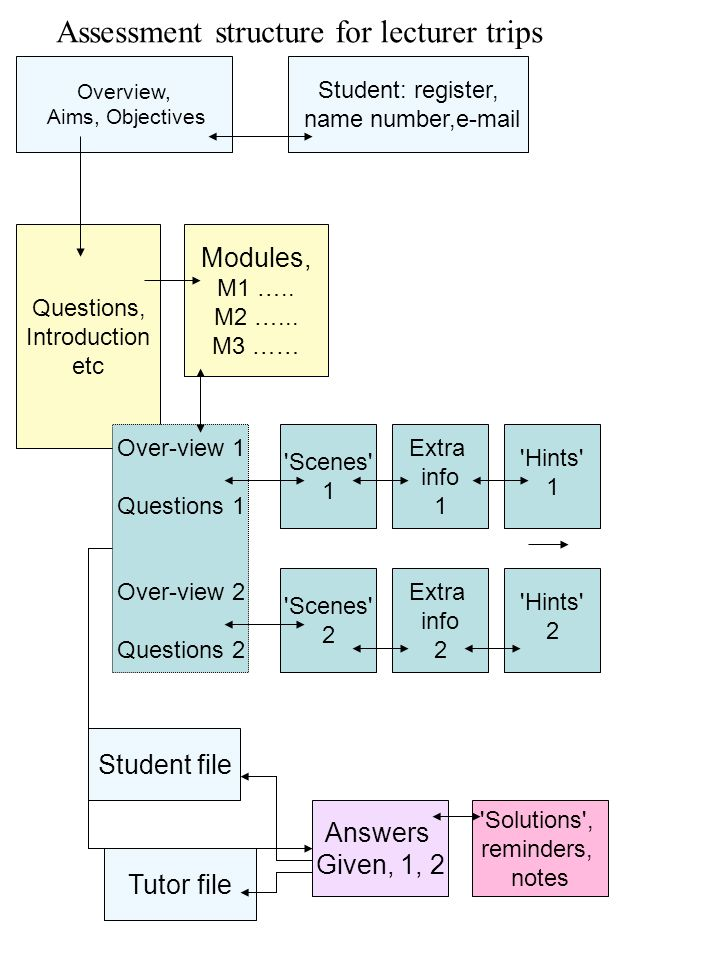 Assessment structure for lecturer trips