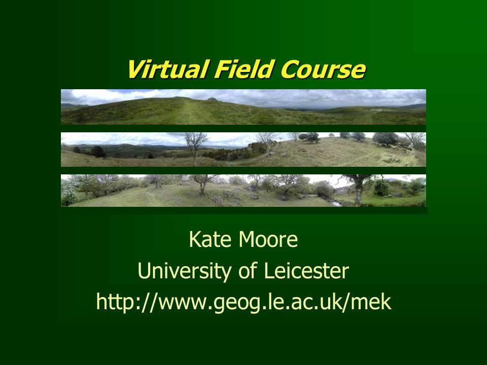 Kate Moore University of Leicester http://www.geog.le.ac.uk/mek