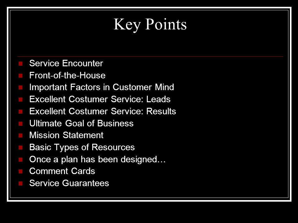 Key Points Of A Business Plan