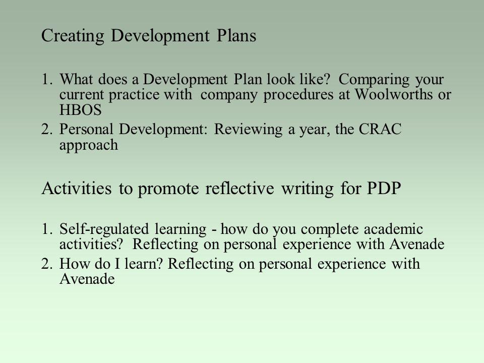 Creating Development Plans