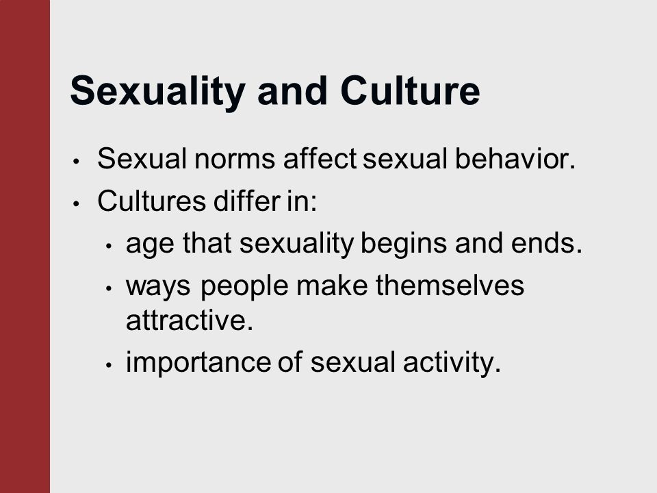 Sexual Norms In Different Cultures