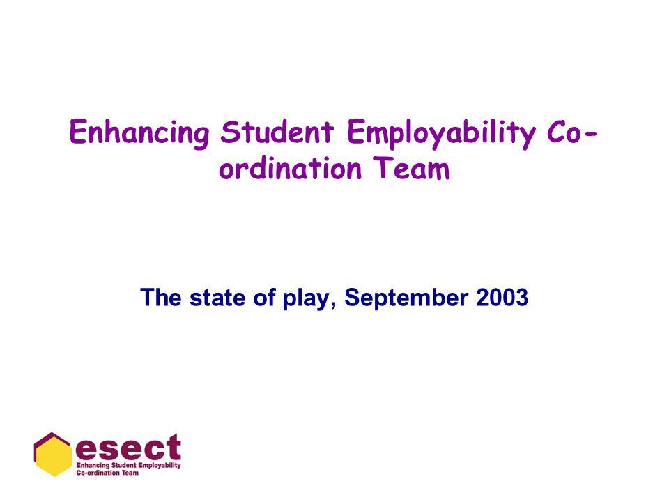 Enhancing Student Employability Co-ordination Team
