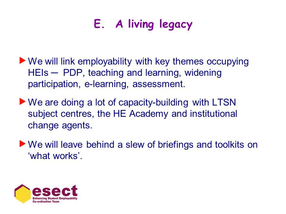 E. A living legacy