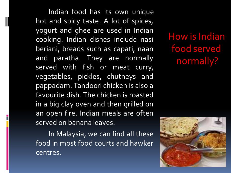 Reading comprehension year 5 ppt download how is indian food served normally forumfinder Choice Image