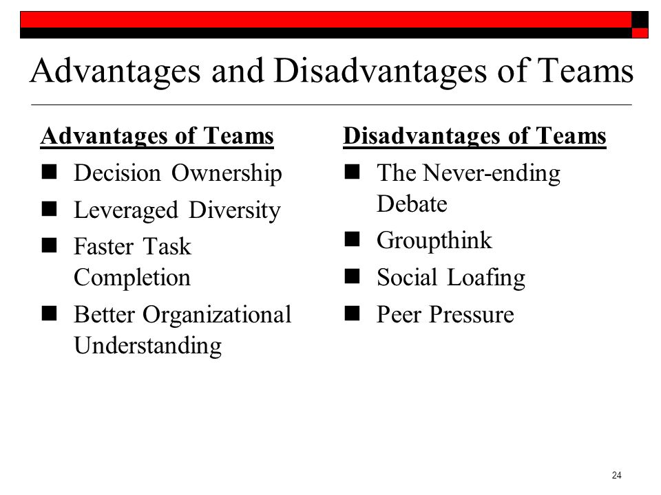 advantages and disadvantages of homogeneous team Using patterns to form homogeneous teams note that advantages and disadvantages of homogeneous versus hetero- as homogeneous team.
