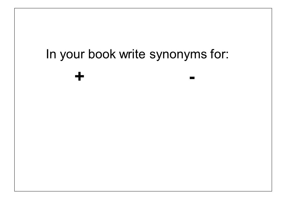 In your book write synonyms for: