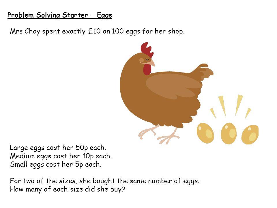 Problem Solving Starter – Eggs