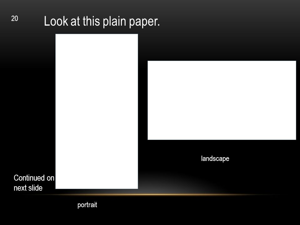 Look at this plain paper.