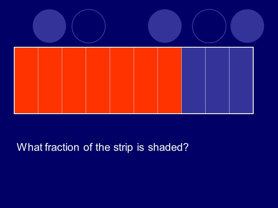 What fraction of the strip is shaded