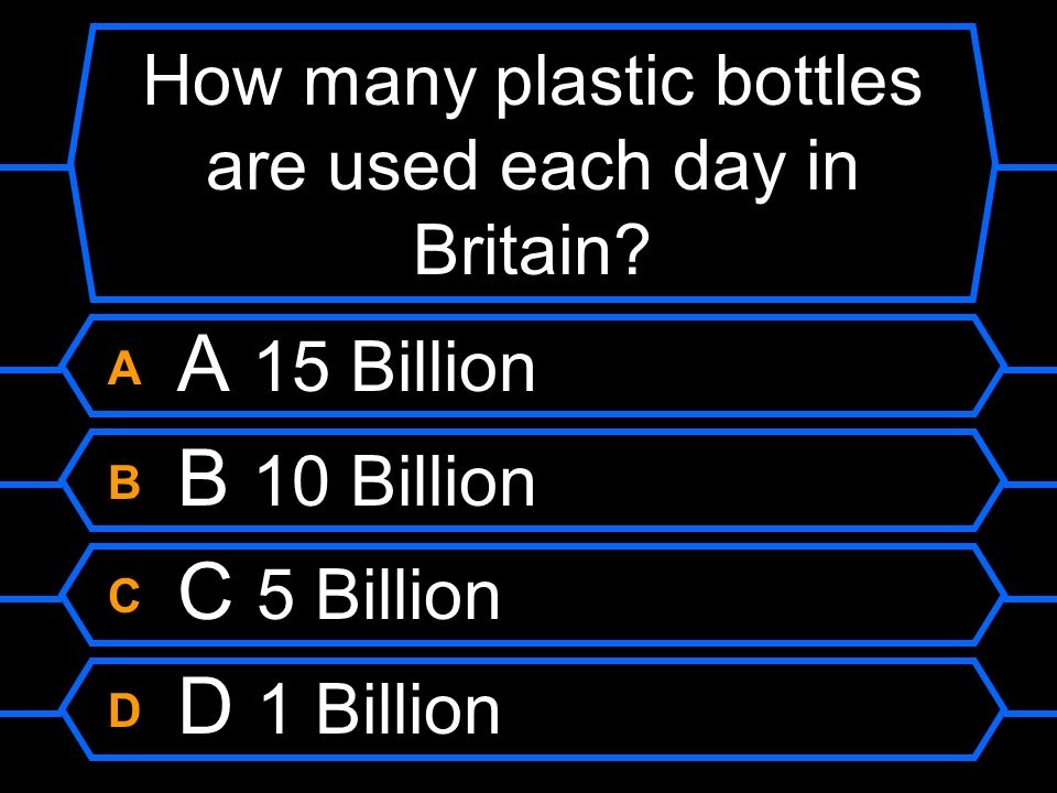 How many plastic bottles are used each day in Britain