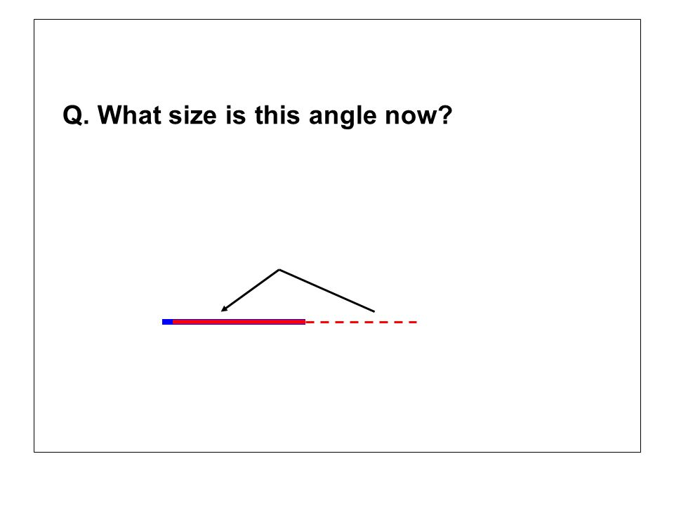 Q. What size is this angle now
