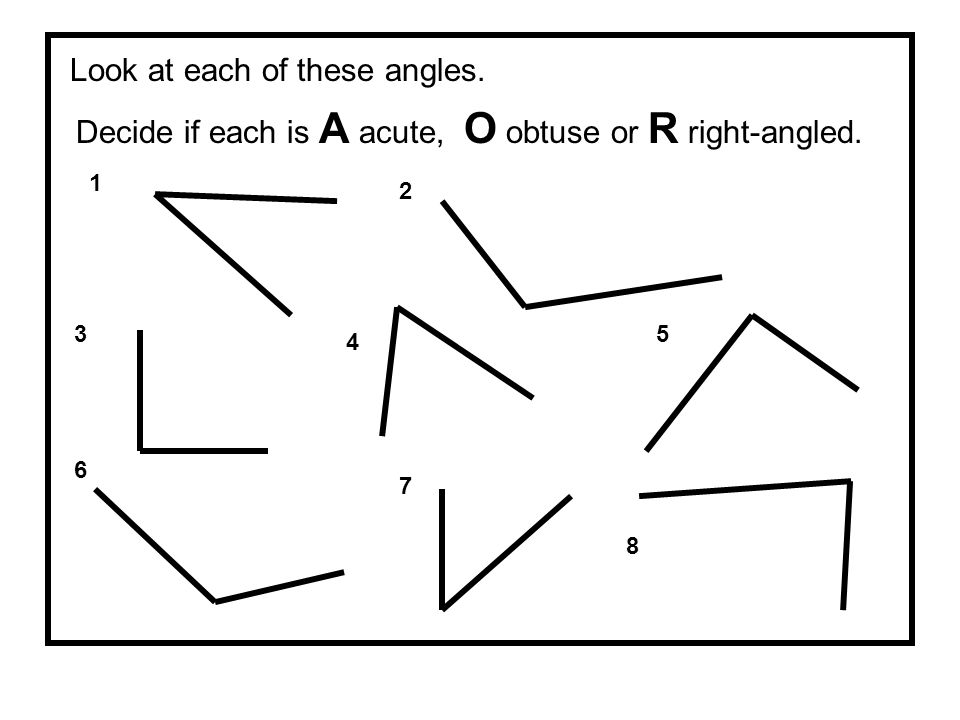 Look at each of these angles.
