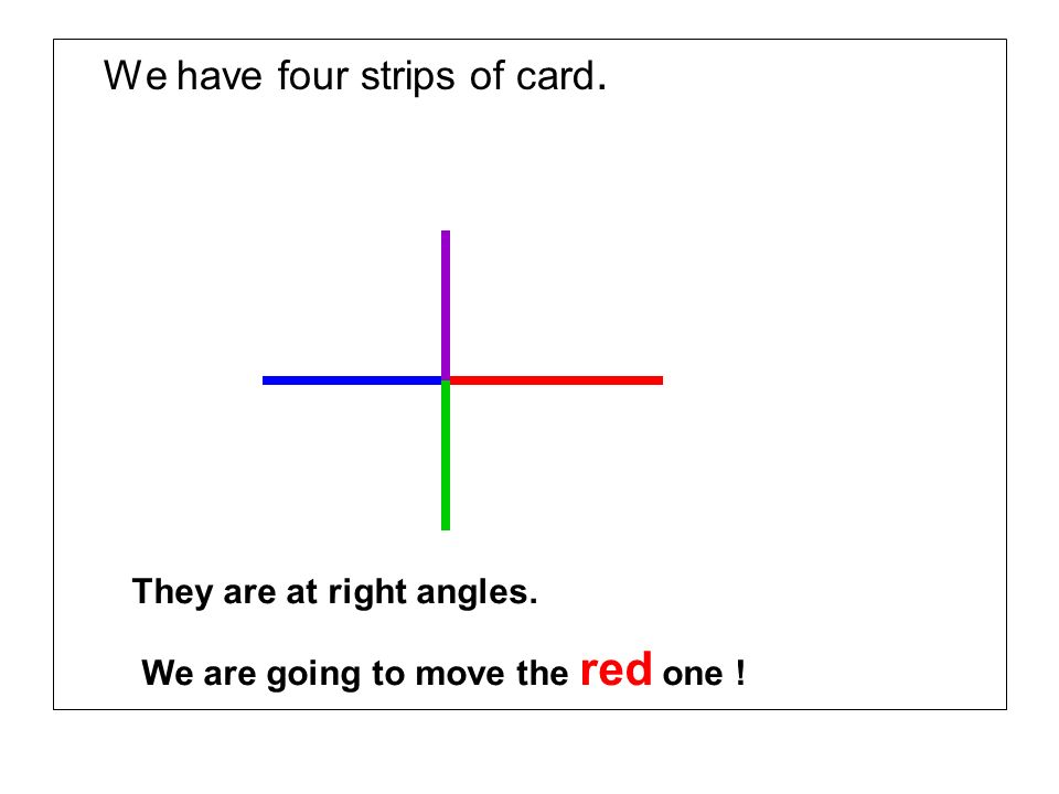 We have four strips of card.