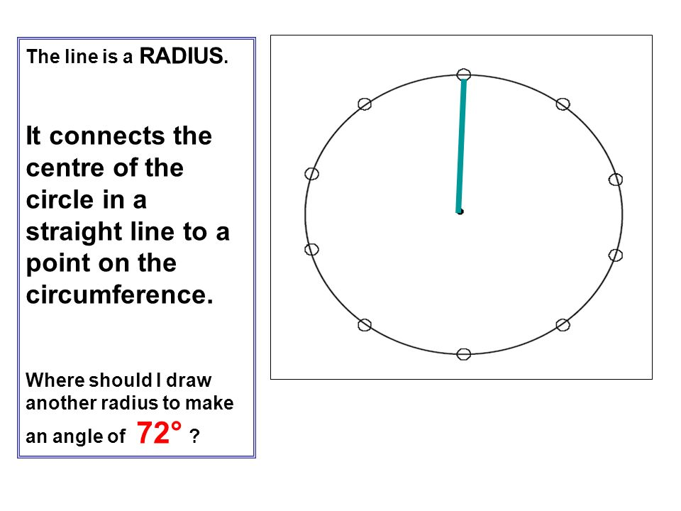 The line is a RADIUS. It connects the centre of the circle in a straight line to a point on the circumference.