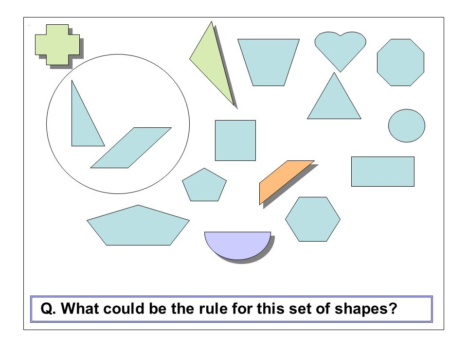 Q. What could be the rule for this set of shapes