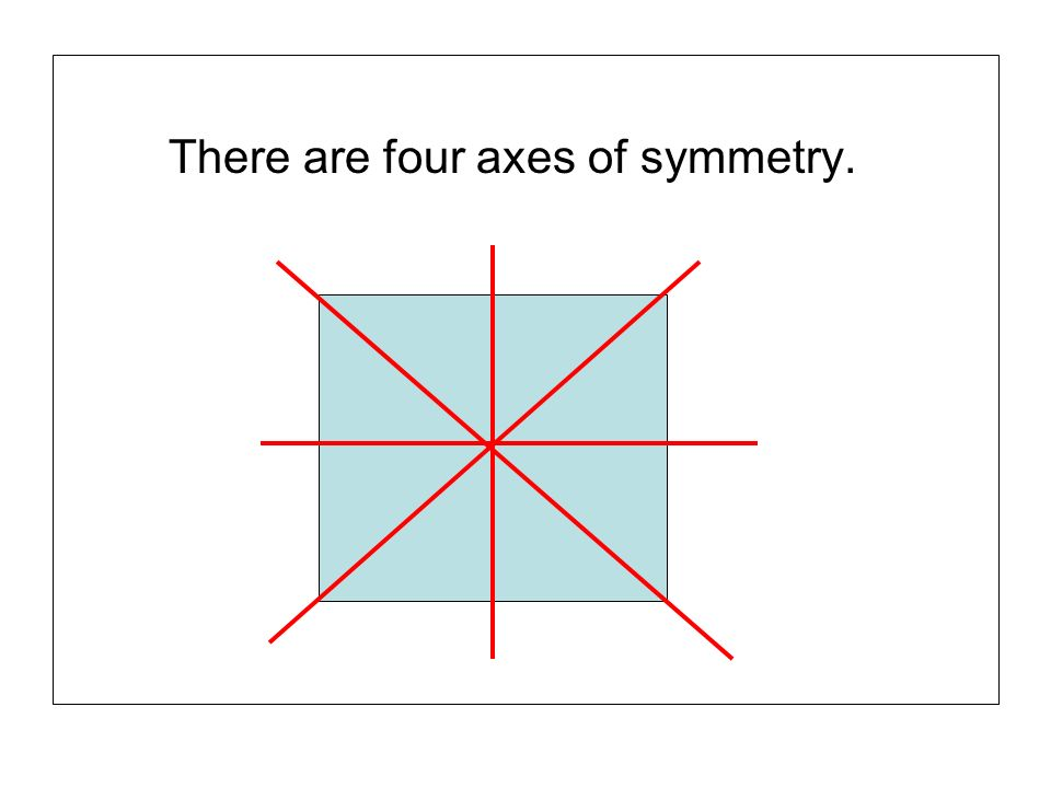 There are four axes of symmetry.