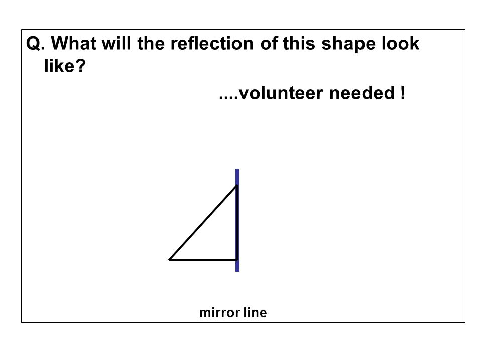Q. What will the reflection of this shape look like