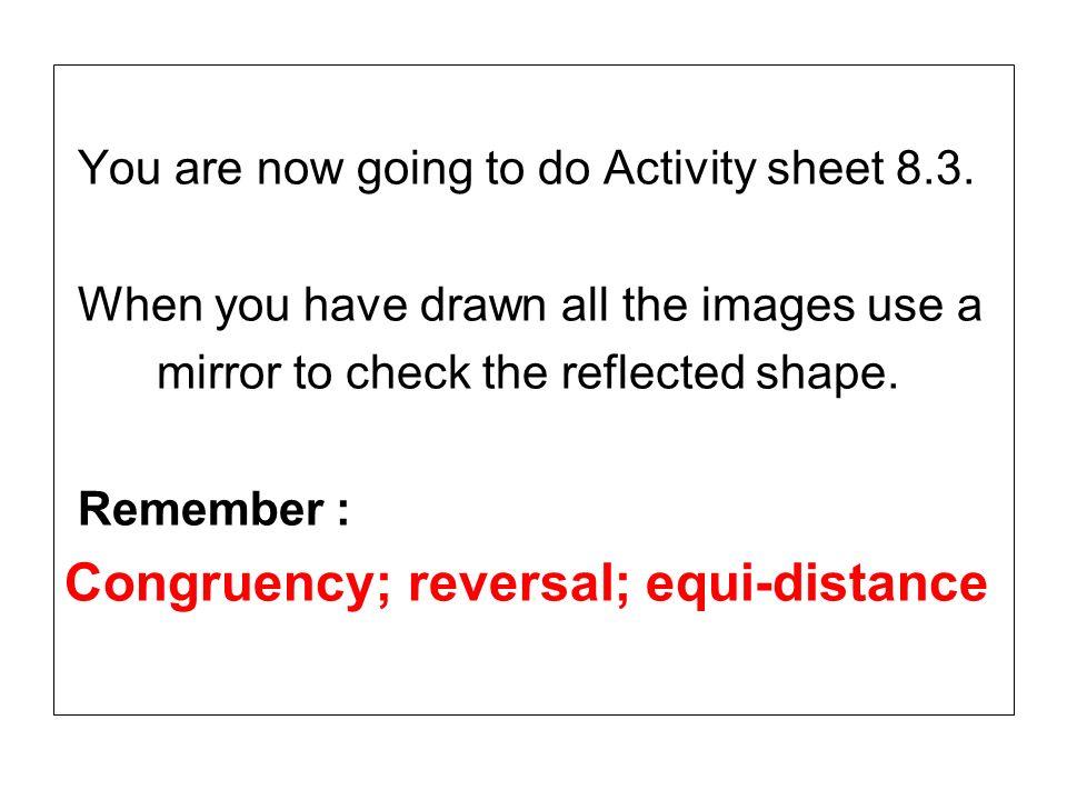 Congruency; reversal; equi-distance