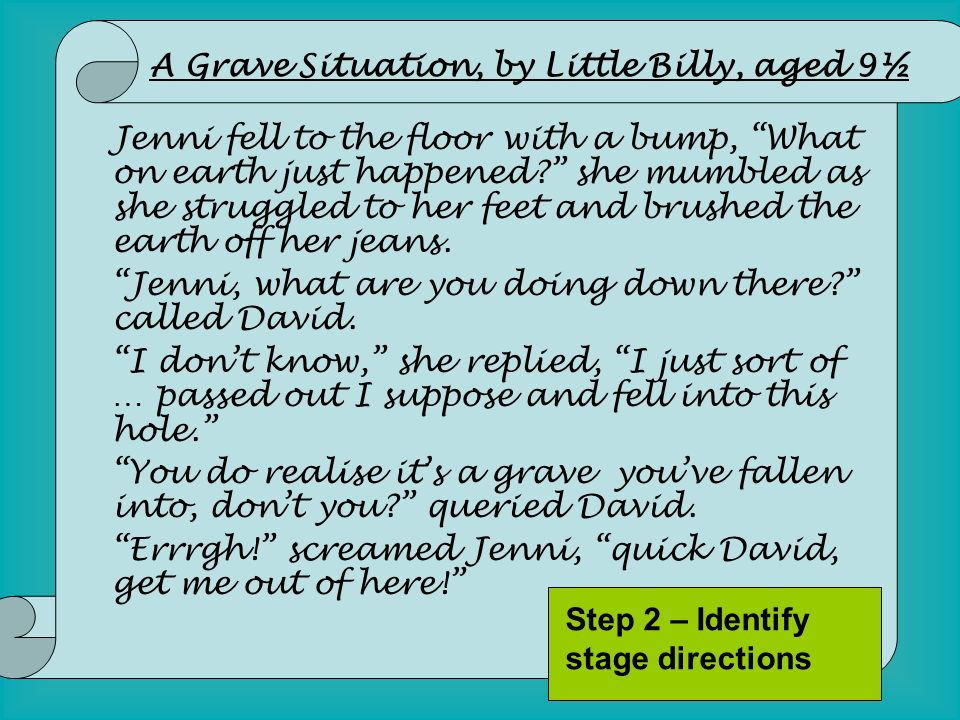 A Grave Situation, by Little Billy, aged 9½