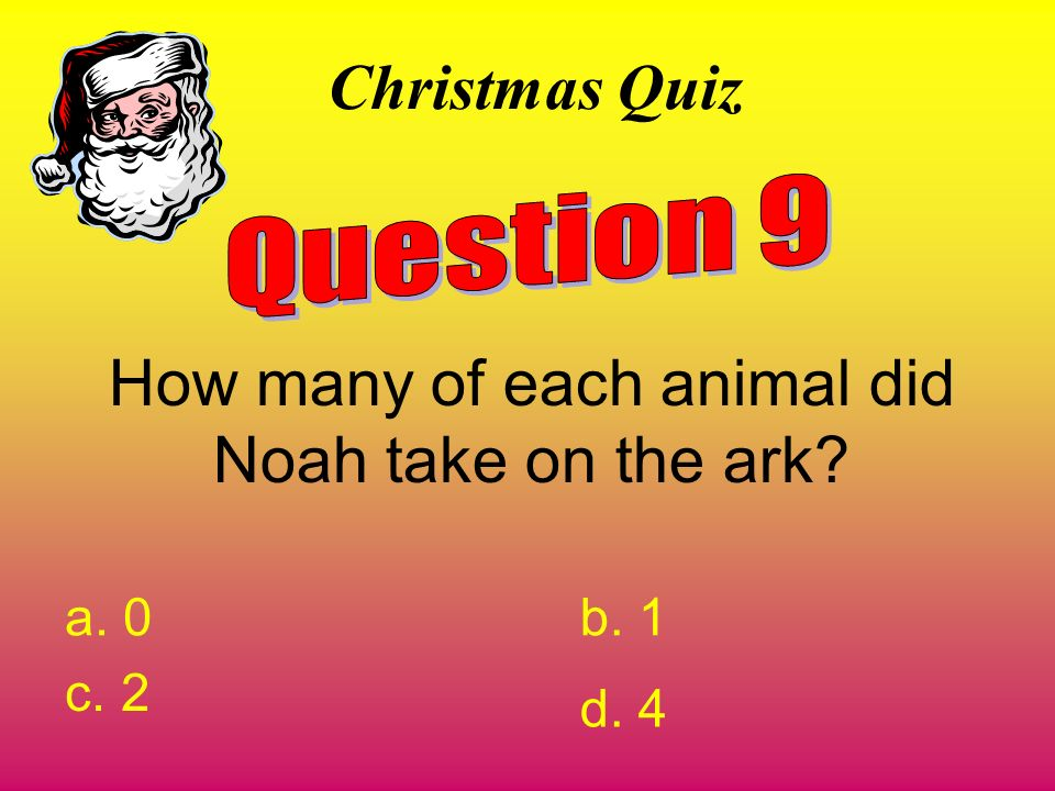 How many of each animal did Noah take on the ark