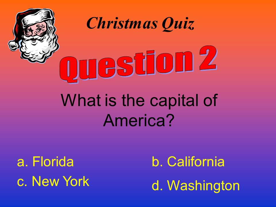 What is the capital of America