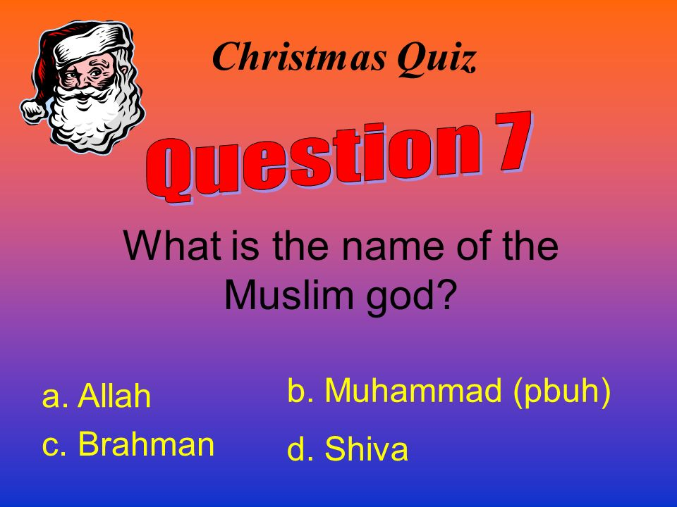 What is the name of the Muslim god