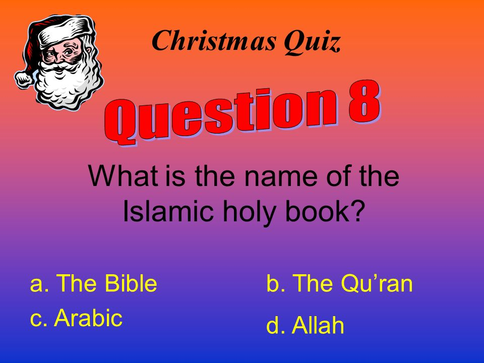 What is the name of the Islamic holy book