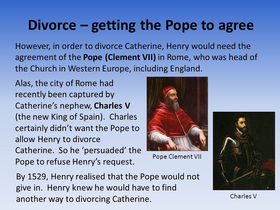 Divorce – getting the Pope to agree
