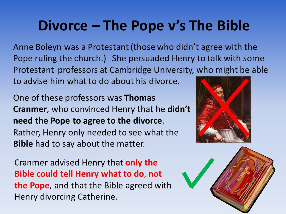 Divorce – The Pope v's The Bible