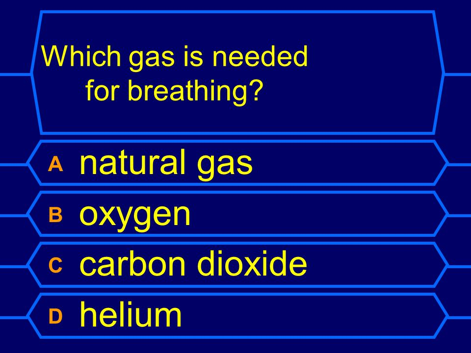 Which gas is needed for breathing
