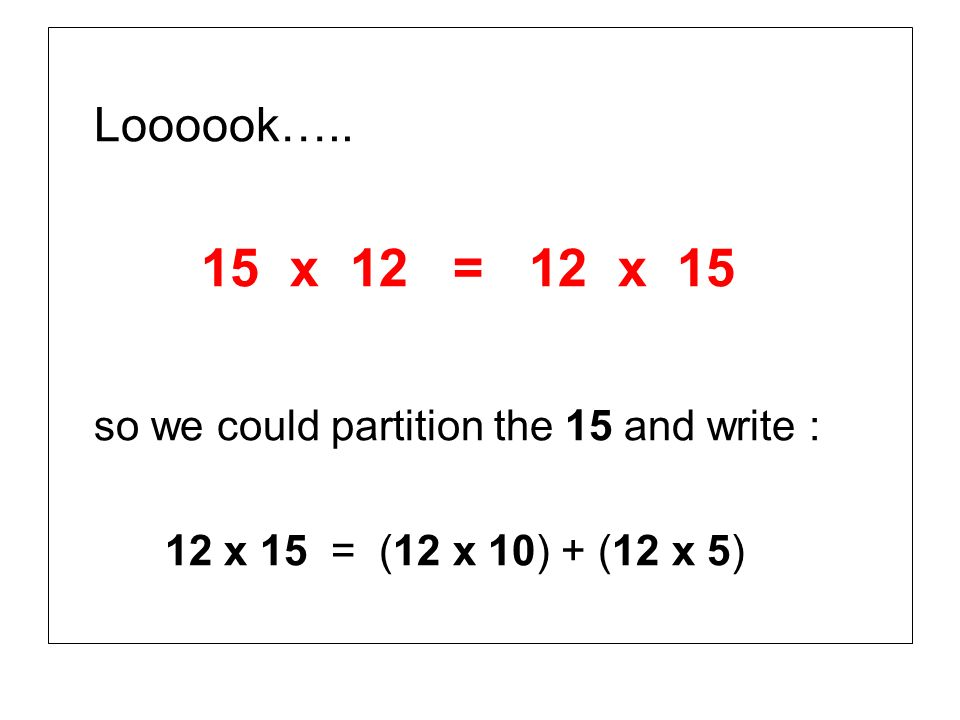 so we could partition the 15 and write :