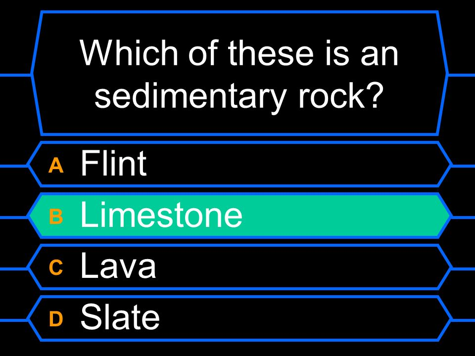 Which of these is an sedimentary rock