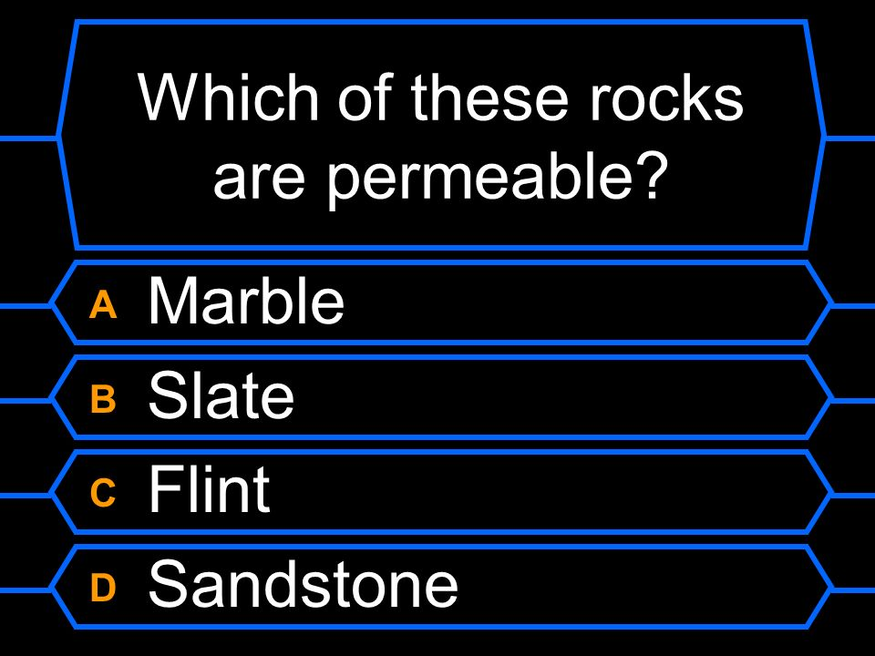 Which of these rocks are permeable