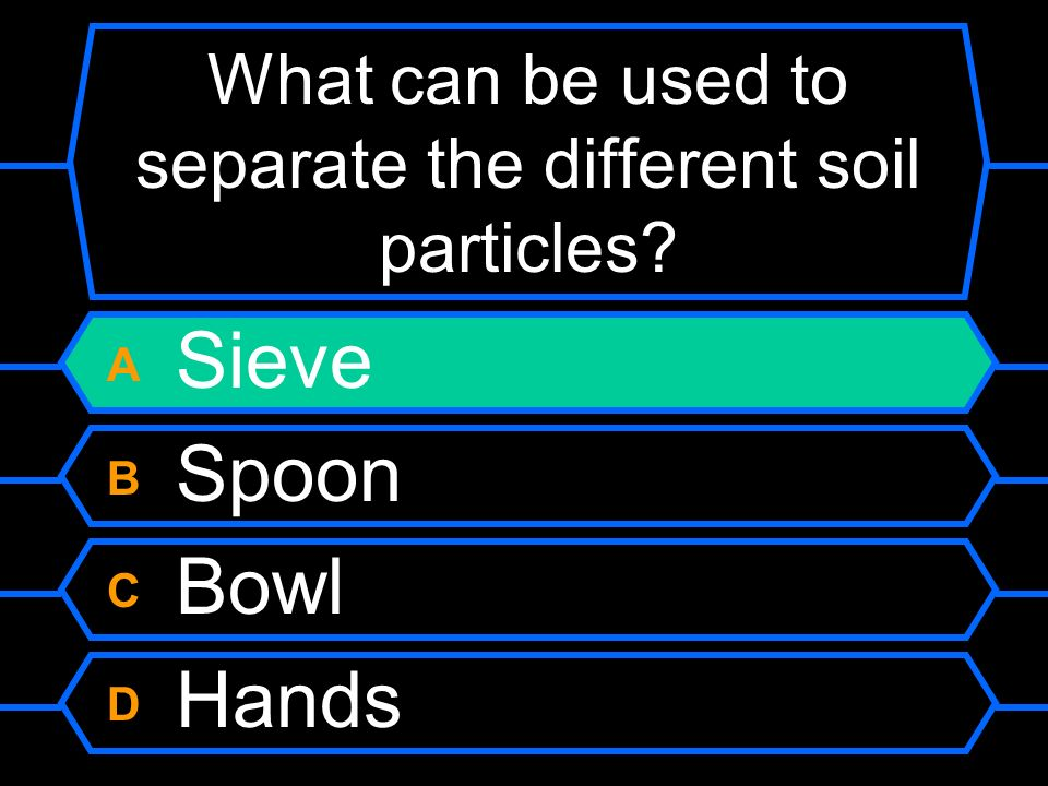 What can be used to separate the different soil particles