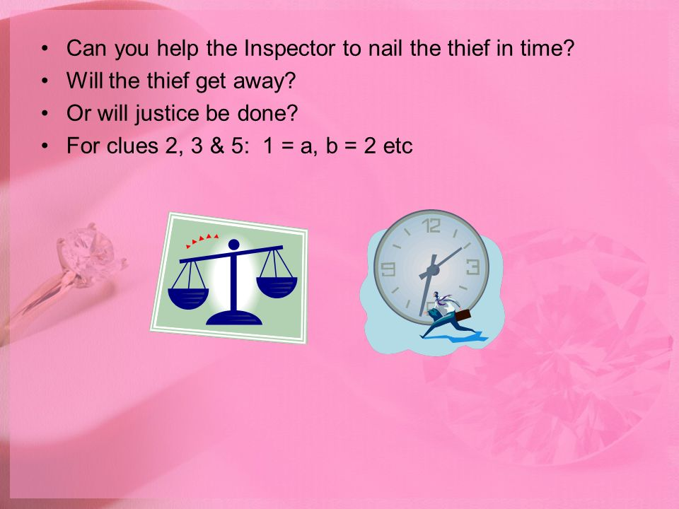 Can you help the Inspector to nail the thief in time