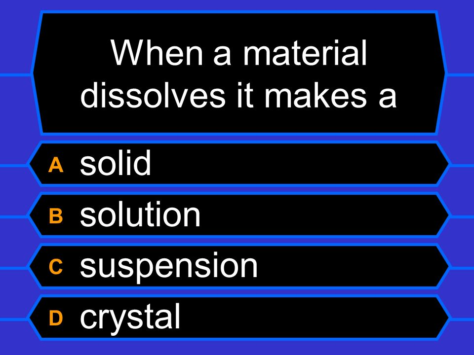 When a material dissolves it makes a
