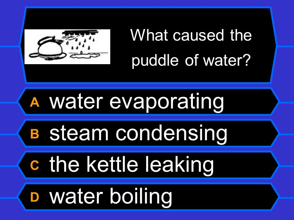 What caused the puddle of water