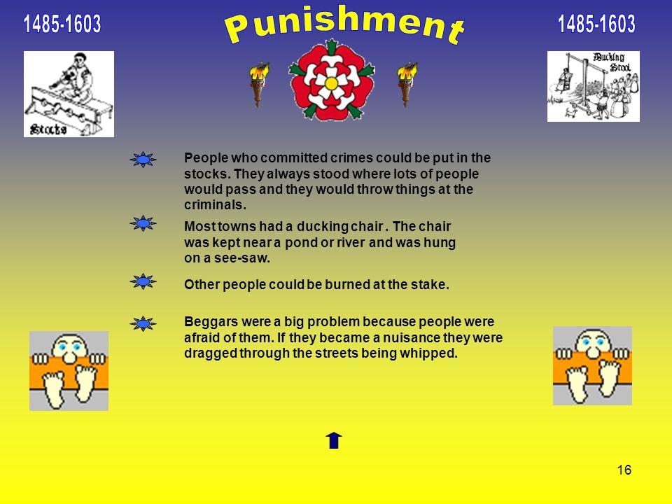 1485-1603 1485-1603. Punishment.